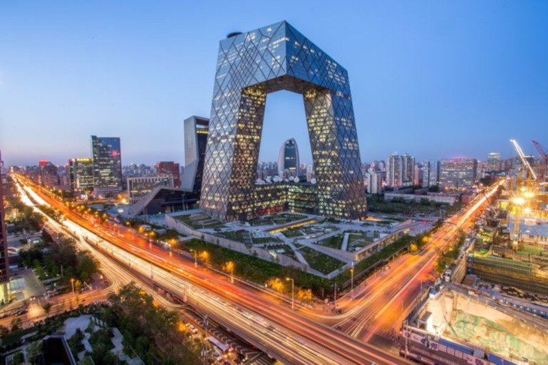 an image of downtown Beijing, in China