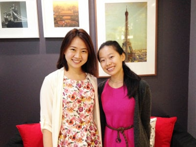 Khun Prima, a student of Chinese with her teacher