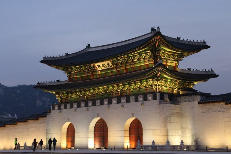 Forbidden city, Gyeongbokgung Palace, Korea