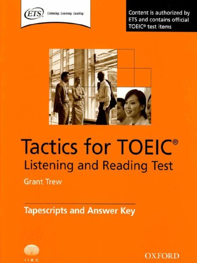 Tactics for TOEIC ETS listening and reading test used at Modulo Language School